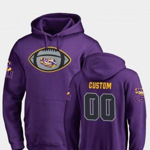 LSU Tigers Custom Hoodie Men's Purple Game Ball #00 Football