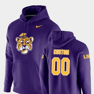 LSU Tigers Customized Hoodies Men Purple #00 Vault Logo Club Pullover