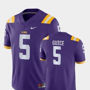 LSU Tigers Derrius Guice Jersey Purple Game #5 College Football Men's