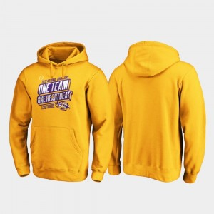 LSU Tigers Hoodie For Men College Football Playoff Hometown Facemask 2019 National Champions Gold