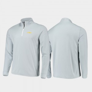 LSU Tigers Jacket Gameday Quarter-Zip Performance Gray Men