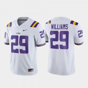 LSU Tigers Greedy Williams Jersey Men's Football Game #29 White
