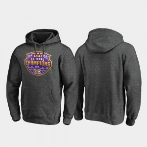 LSU Tigers Hoodie College Football Playoff Encroachment Men 2019 National Champions Heather Gray