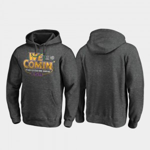 LSU Tigers Hoodie College Football Playoff Receiver 2019 Peach Bowl Champions For Men Heather Gray