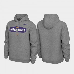 LSU Tigers Hoodie Pullover Heathered Gray Local Phrase Men's
