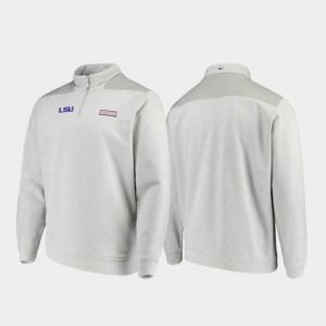 LSU Tigers Jacket Heathered Gray Shep Shirt Quarter-Zip For Men