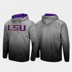 LSU Tigers Hoodie Heathered Gray Sitwell Sublimated Men Pullover