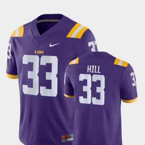 LSU Tigers Jeremy Hill Jersey #33 Purple Game Mens College Football