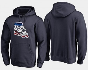 LSU Tigers Hoodie Navy For Men's Banner State Big & Tall