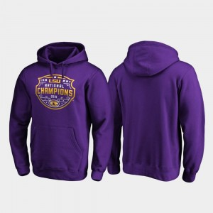 LSU Tigers Hoodie College Football Playoff Encroachment 2019 National Champions For Men Purple