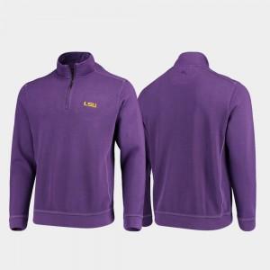LSU Tigers Jacket Men's Purple College Sport Nassau Half-Zip Pullover Tommy Bahama