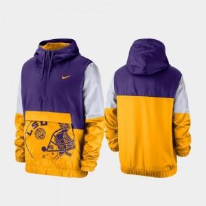 LSU Tigers Jacket Quarter-Zip Colorblock Anorak Purple For Men