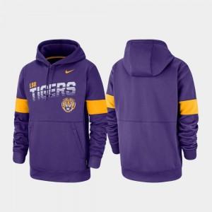 LSU Tigers Hoodie Men Purple Pullover Performance