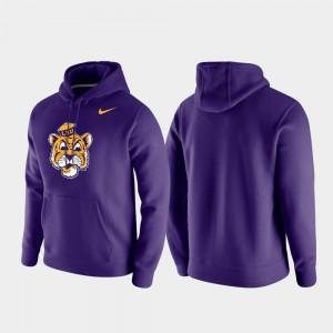LSU Tigers Hoodie Men's Club Fleece Vintage Logo Purple