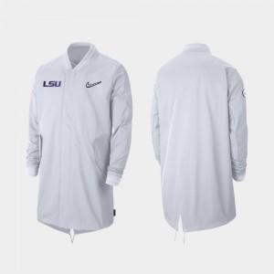 LSU Tigers Jacket For Men Sideline Full-Zip 2019 College Football Playoff Bound White