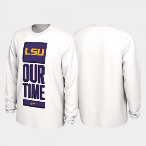 LSU Tigers T-Shirt White Men's Our Time Bench Legend 2020 March Madness