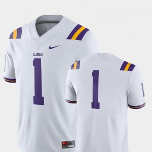 LSU Tigers Jersey #1 Men's College Football White 2018 Game
