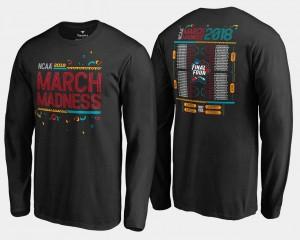 March Madness T-Shirt Black 68-Team Bracket Long Sleeve Men Basketball Tournament
