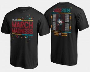 March Madness T-Shirt Basketball Tournament Black Mens 68-Team Bracket