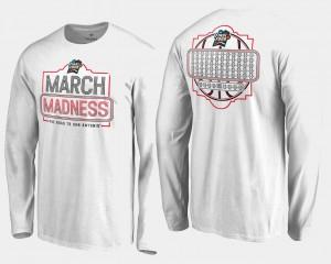 March Madness T-Shirt Basketball Tournament Men 68-Team Ball Long Sleeve White