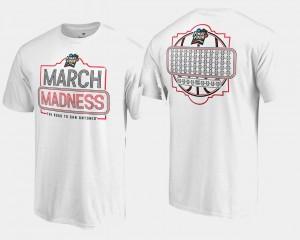 March Madness T-Shirt For Men's White Basketball Tournament 68-Team Ball