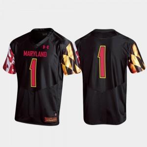 Maryland Terrapins Jersey For Men Black Replica College Football #1