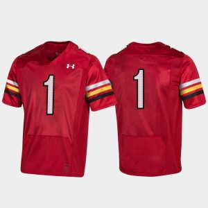 Maryland Terrapins Jersey Mens 150th Anniversary College Football Replica #1 Red