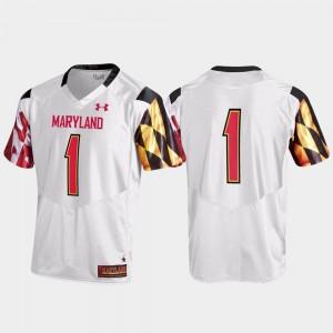 Maryland Terrapins Jersey White Replica #1 Men