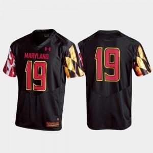 Maryland Terrapins Jersey For Men Replica #19 Black
