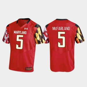 Maryland Terrapins Anthony McFarland Jersey Red #5 Replica College Football Mens