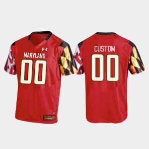 Maryland Terrapins Custom Jersey Red College Football #00 Replica For Men