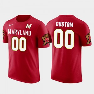 Maryland Terrapins Customized T-Shirt Cotton Football Future Stars Red For Men #00