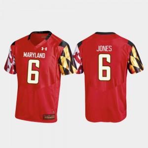 Maryland Terrapins Jeshaun Jones Jersey #6 Men Red Replica College Football