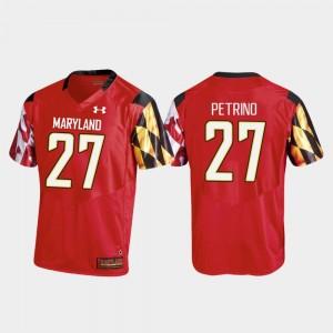 Maryland Terrapins Joseph Petrino Jersey #27 College Football For Men Red Replica
