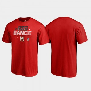 Maryland Terrapins T-Shirt March Madness 2019 NCAA Basketball Tournament Red Big Dance For Men's