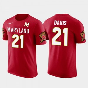 Maryland Terrapins Sean Davis T-Shirt Future Stars Red Men Pittsburgh Steelers Football #21
