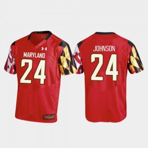 Maryland Terrapins Ty Johnson Jersey College Football Mens #24 Red Replica