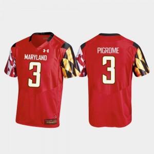 Maryland Terrapins Tyrrell Pigrome Jersey College Football Red Men Replica #3