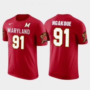 Maryland Terrapins Yannick Ngakoue T-Shirt Men Jacksonville Jaguars Football Future Stars Red #91