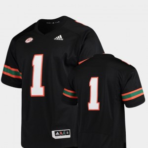 Miami Hurricanes Jersey Black #1 For Men's Premier College Football