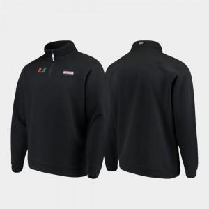 Miami Hurricanes Jacket For Men's Quarter-Zip Black Shep Shirt