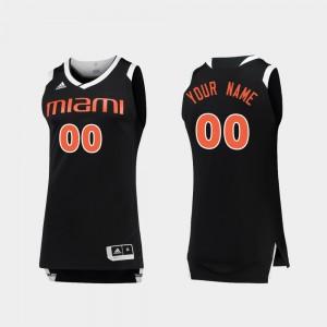 Miami Hurricanes Customized Jerseys Men Black White Chase #00 College Basketball