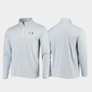 Miami Hurricanes Jacket Gameday Men's Quarter-Zip Performance Gray