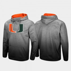 Miami Hurricanes Hoodie Pullover Heathered Gray Sitwell Sublimated Mens