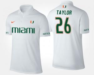 Miami Hurricanes Sean Taylor Polo Men's #26 White