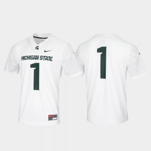Michigan State Spartans Jersey Untouchable #1 Game White For Men's
