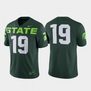 Michigan State Spartans Jersey Game Alternate #19 Men Green