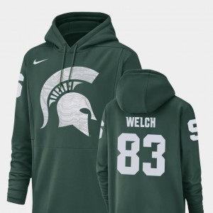 Michigan State Spartans Andre Welch Hoodie For Men Football Performance Champ Drive Green #83