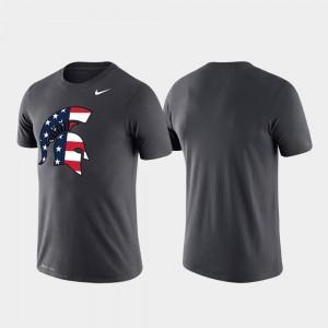 Michigan State Spartans T-Shirt Anthracite Americana Legend Performance Men