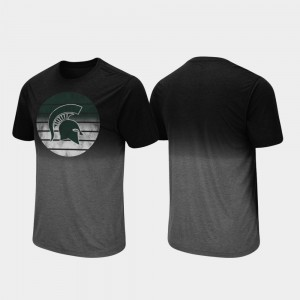Michigan State Spartans T-Shirt Mens Dip Dye Fancy Walking Black